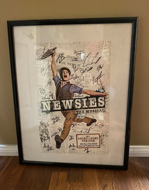 Newsies Signed Framed Poster