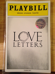 LOVE LETTERS Opening Night Playbill - Broadway Bazaar
