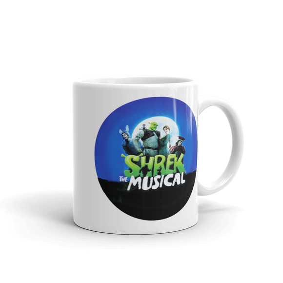 Shrek The Musical Round Image Coffee Mug