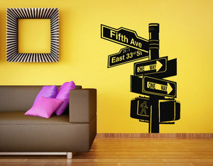 New York City Streetsign Wall Decal