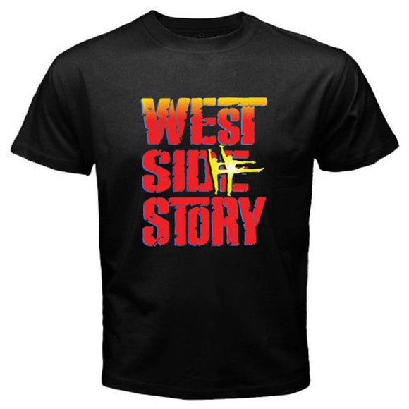 New WEST SIDE STORY Broadway Musical Show Men's White Black T-Shirt