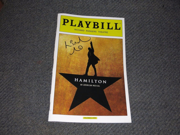 HAMILTON Playbill  - SIGNED by Lin Manuel Miranda - Broadway Bazaar