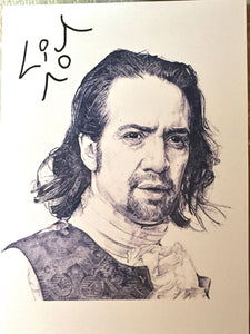 Hamilton Broadway Artist Rendering Of Lin - Signed By Lin!