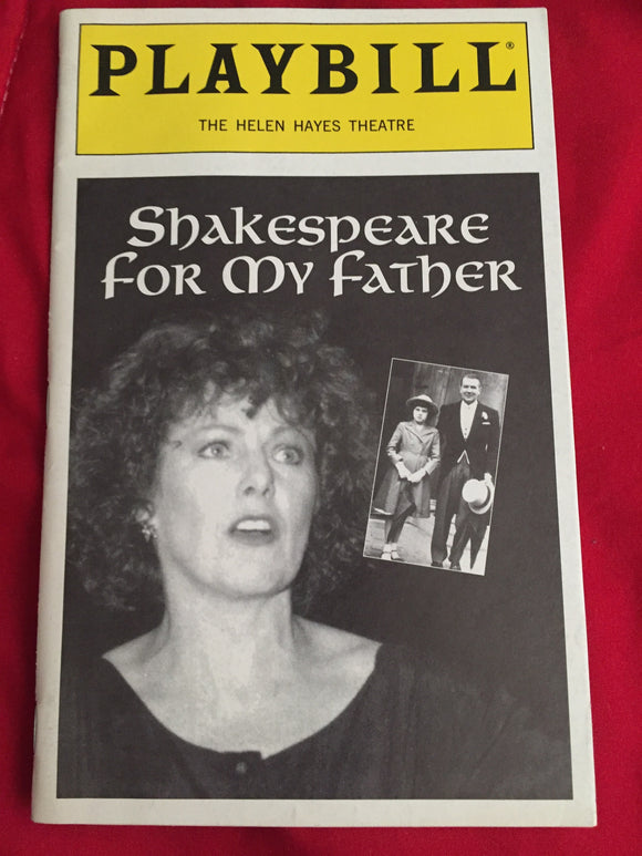 SHAKESPEARE FOR MY FATHER Playbill - Broadway Bazaar