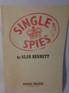 SINGLE SPIES Playbill - Broadway Bazaar