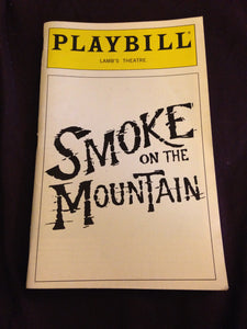 SMOKE ON THE MOUNTAIN Playbill - Broadway Bazaar