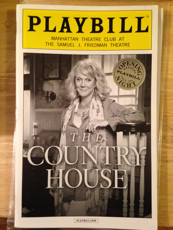 THE COUNTRY HOUSE Opening Night Playbill - Broadway Bazaar