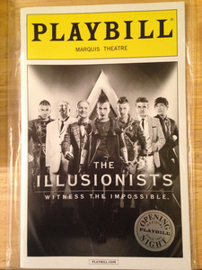 THE ILLUSIONISTS Opening Night Playbill - Broadway Bazaar