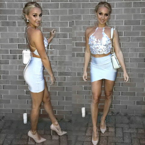White embellished lace mesh handmade bralet crop top sequin