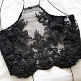 Fantasia Black LILIPEARL handmade lace bralet - LiLiPearl - LiLiPearlUK - Handmade luxury dragon satin chinese unique womens clothing lace mesh prom dress festival crop top sequin bodychain bralet lili pearl