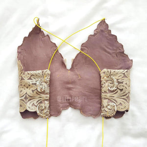 Bronzer LILIPEARL handmade lace triangle bralet - LiLiPearl - LiLiPearlUK - Handmade luxury dragon satin chinese unique womens clothing lace mesh crop top bralet lili pearl