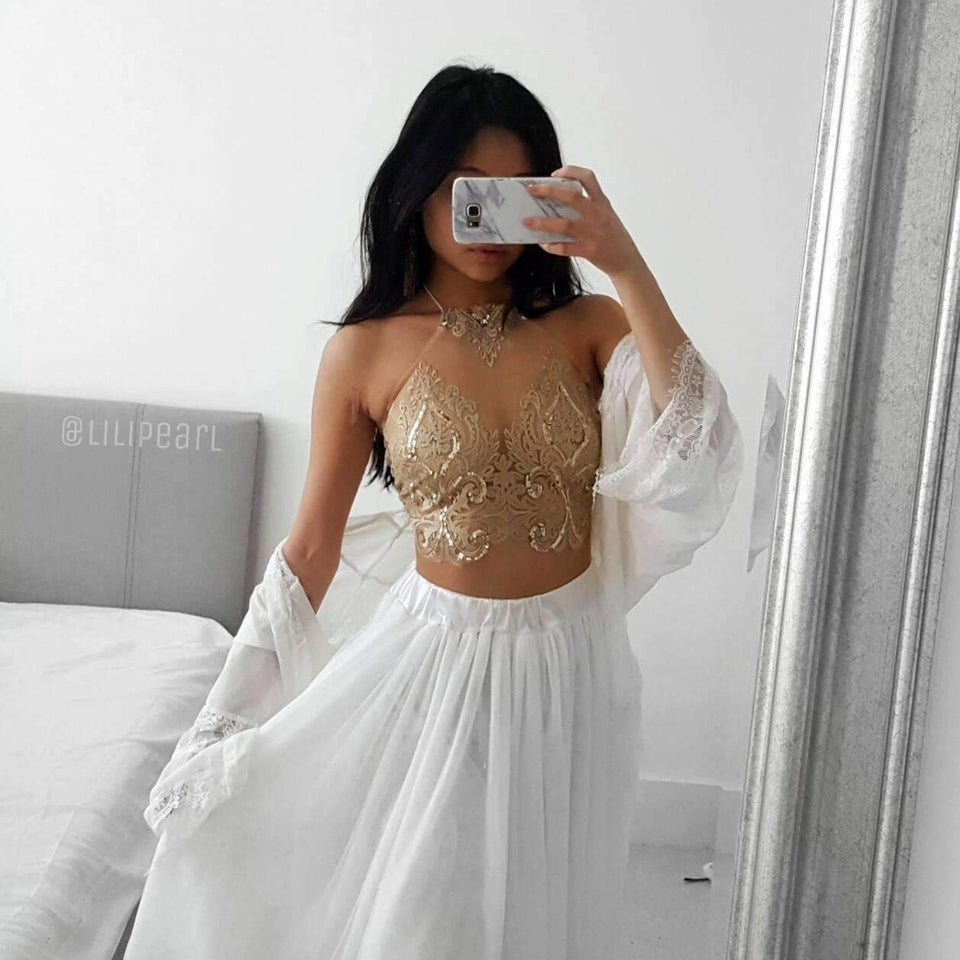 Bronzette LILIPEARL handmade lace bralet  - LiLiPearl - LiLiPearlUK - Handmade luxury dragon satin chinese unique womens clothing lace mesh prom dress festival crop top sequin bodychain dolls kill depop shopify silkfred chelsea pearl li bralet lili pearl