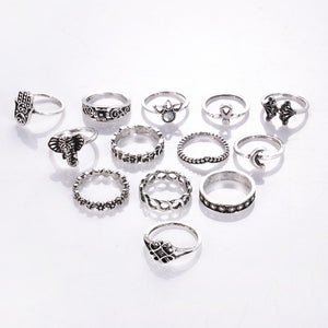 Luna LILIPEARL ring bundle set (13 pieces)