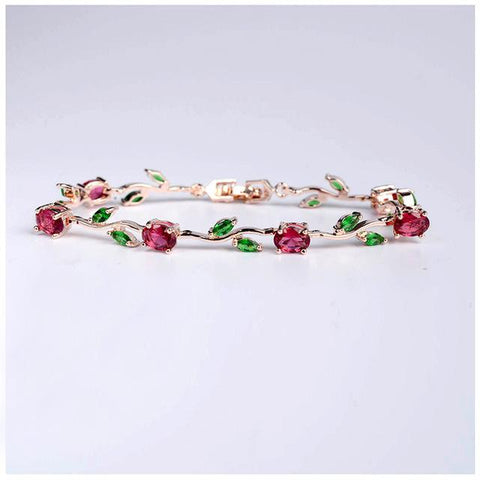 Rose rhinestone LILIPEARL lux crystal disney beauty & beast bracelet