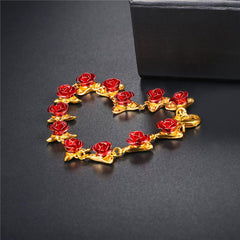 12 Rose LILIPEARL lux disney beauty & beast 1 year anniversary bracelet