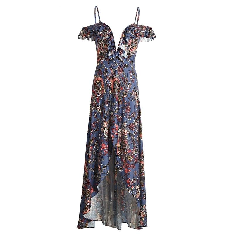 9a2973bbdac9 Paisley navy Floral LILIPEARL off shoulder maxi dress - LiLiPearl -  LiLiPearlUK - Handmade luxury dragon ...