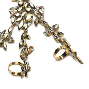 Gold Crystal LILIPEARL Rhinestone LP luxe hand chain