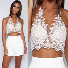 Riley white LILIPEARL handmade lace bralet