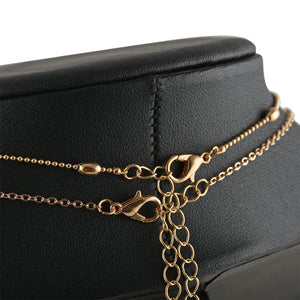 Double heart layer LILIPEARL chain necklace