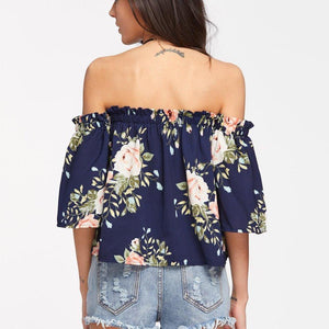 Flower LILIPEARL off shoulder top
