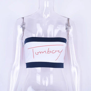 Tomboy LILIPEARL bandeau crop top