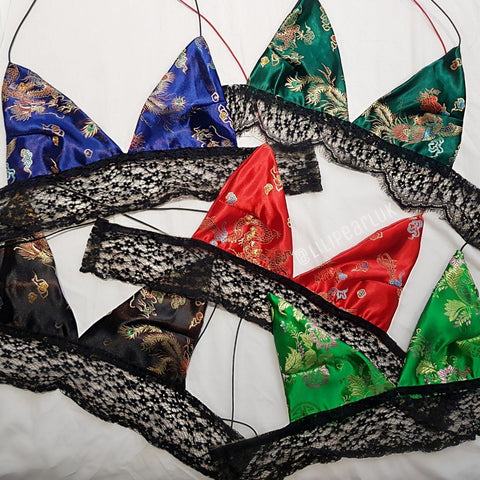 Dragon LILIPEARL handmade triangle lace bralet (6 colours)