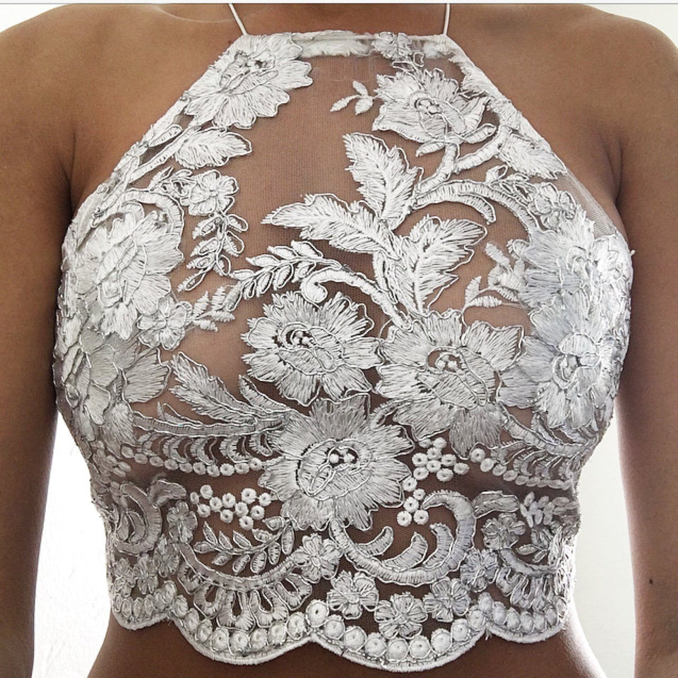 Sylvia LILIPEARL handmade lace bralet  - LiLiPearl - LiLiPearlUK - Handmade luxury dragon satin chinese unique womens clothing lace mesh prom dress festival crop top sequin bodychain dolls kill depop shopify silkfred chelsea pearl li bralet lili pearl