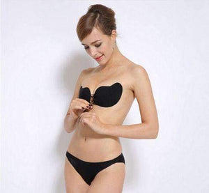 Adjustable LILIPEARL black backless stick on bra