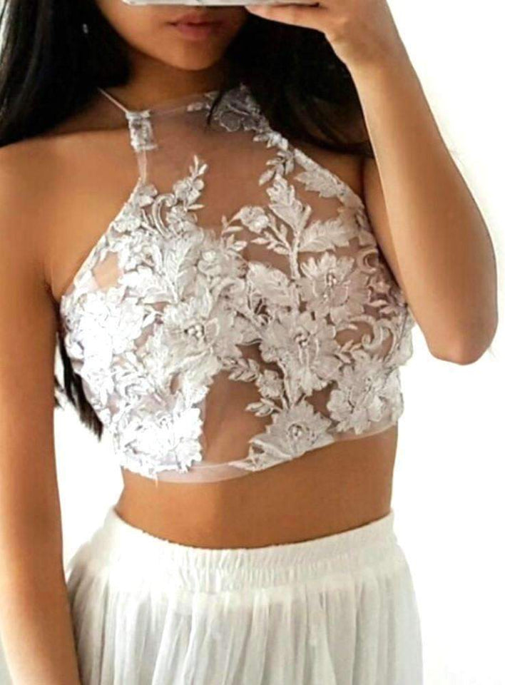 Sylvie white LILIPEARL handmade lace bralet - LiLiPearl - LiLiPearlUK - Handmade luxury dragon satin chinese unique womens clothing lace mesh prom dress festival crop top sequin bodychain bralet lili pearl