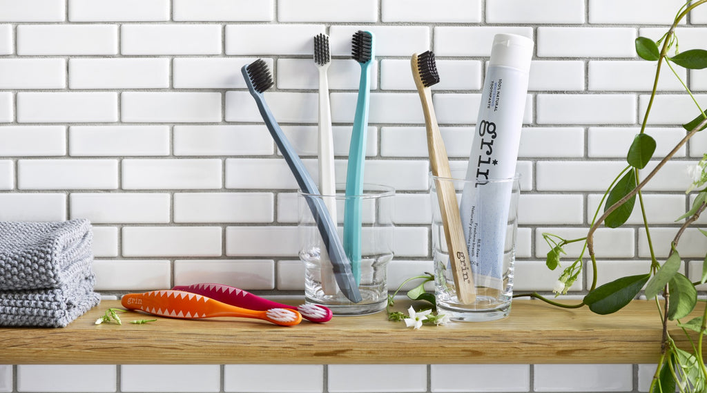 Grin's biodegradable toothbrush range