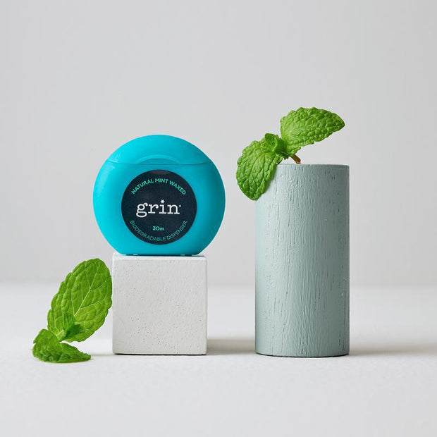 Grin Natural Mint Waxed Dental Floss 30m - Grin Natural Products
