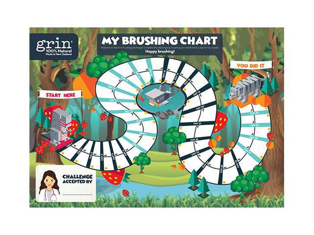 Grin Kids Brushing Challenge - Grin Natural Products