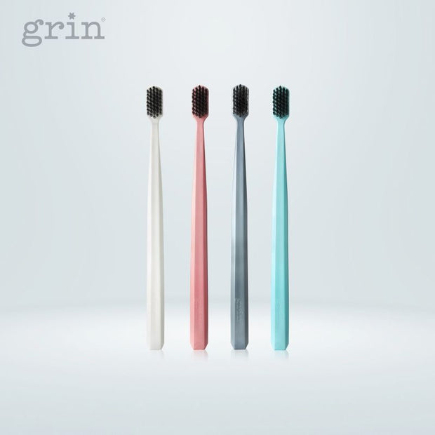 Grin Charcoal-Infused Bio Toothbrush - Rose Pink - Grin Natural Products