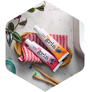 Grin 100% Natural Kids Toothpaste Orange Flavour