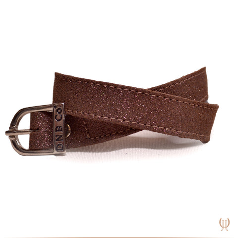 Glitter Brown Spur Straps