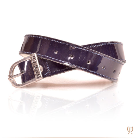 Navy Patent Spur Straps