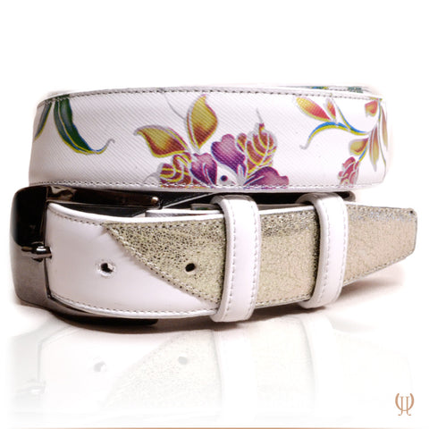 De Niro Belt Lilium White