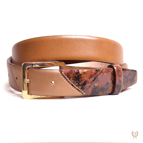 DeNiro Belt Do Lis Lucidi Sfumato Bronzo