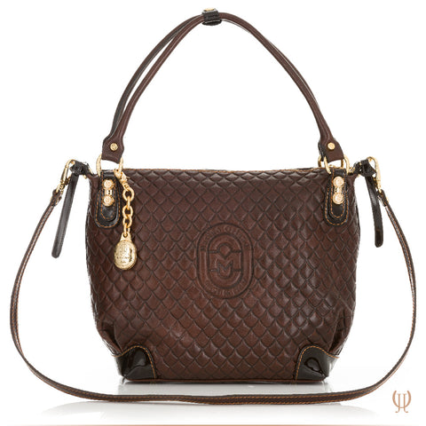 Marino Orlandi Lattice Handbag in Brown