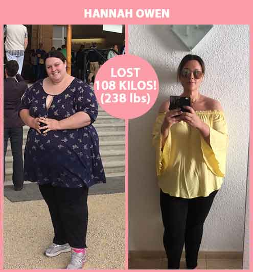 Hannah Owens Amazing Weight Loss