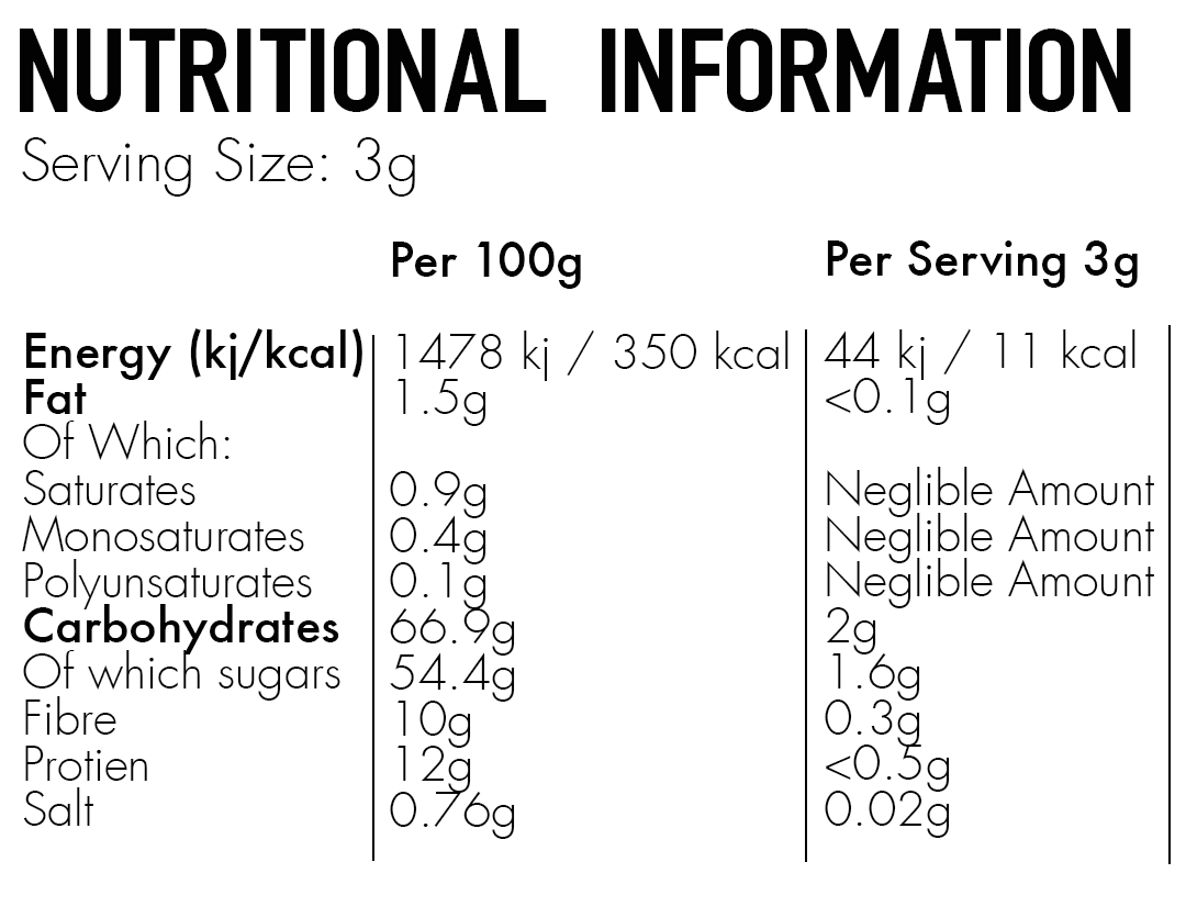 Skinny Coffee Club Mocha Nutritional Facts