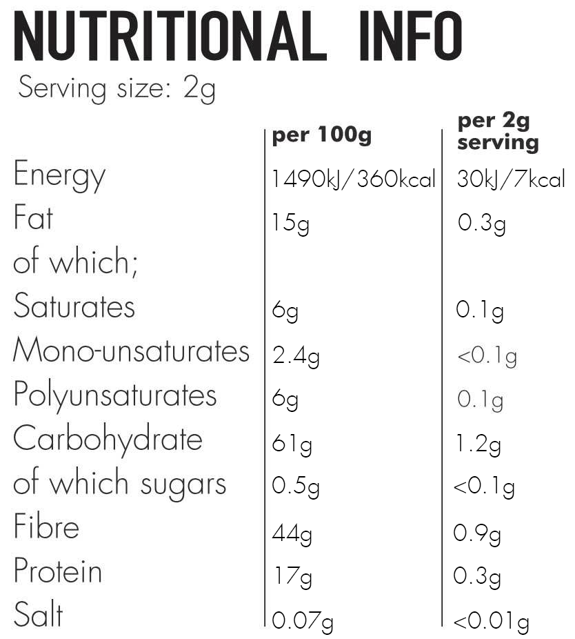 Skinny Coffee Club Night Edition Nutritional Facts