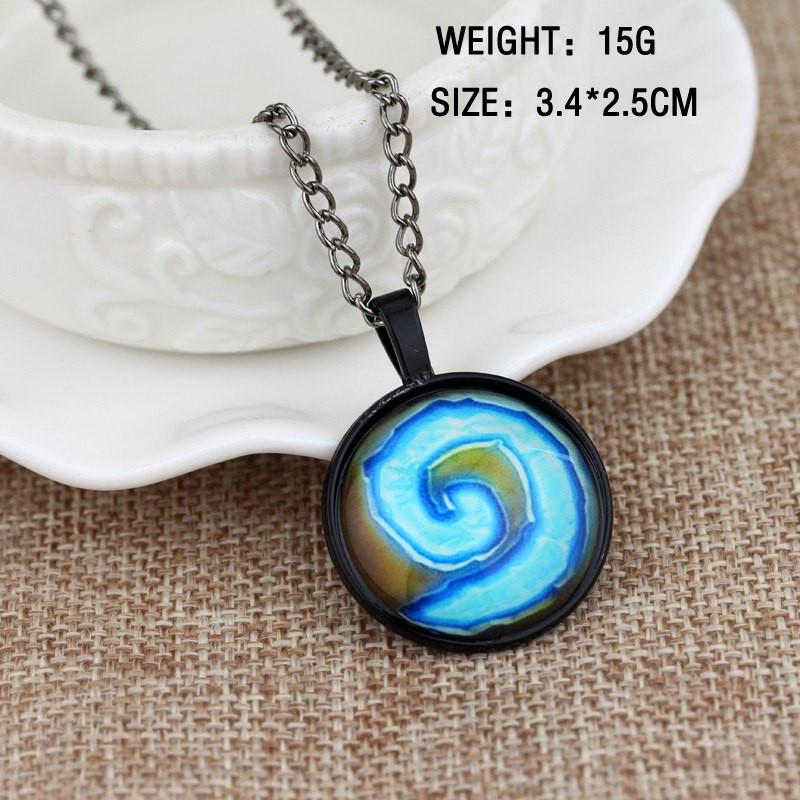 WoW Hearthstone Steel Necklace - The Dragon Shop - Geek Culture
