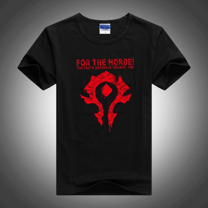 WoW For The Horde T-Shirt - The Dragon Shop - Geek Culture