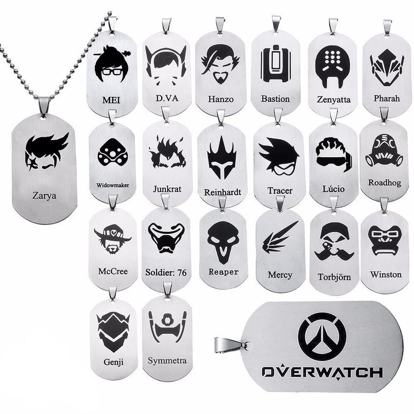 Overwatch Artistic Necklace - The Dragon Shop - Geek Culture