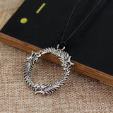 Skyrim Dragon Ring Steel Necklace - The Dragon Shop - Geek Culture