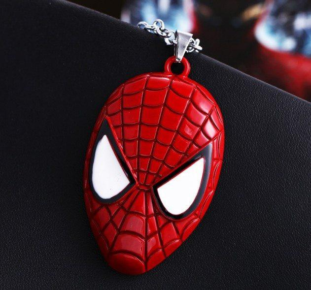 Spider-Man Mask Steel Necklace - The Dragon Shop - Geek Culture