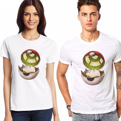 Pokemon Totoro-Ball T-Shirt - The Dragon Shop - Geek Culture