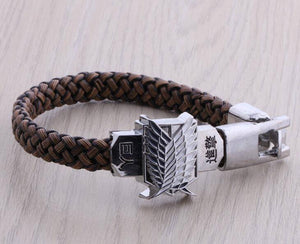 Attack On Titan Survey Corps Bracelet - The Dragon Shop - Geek Culture