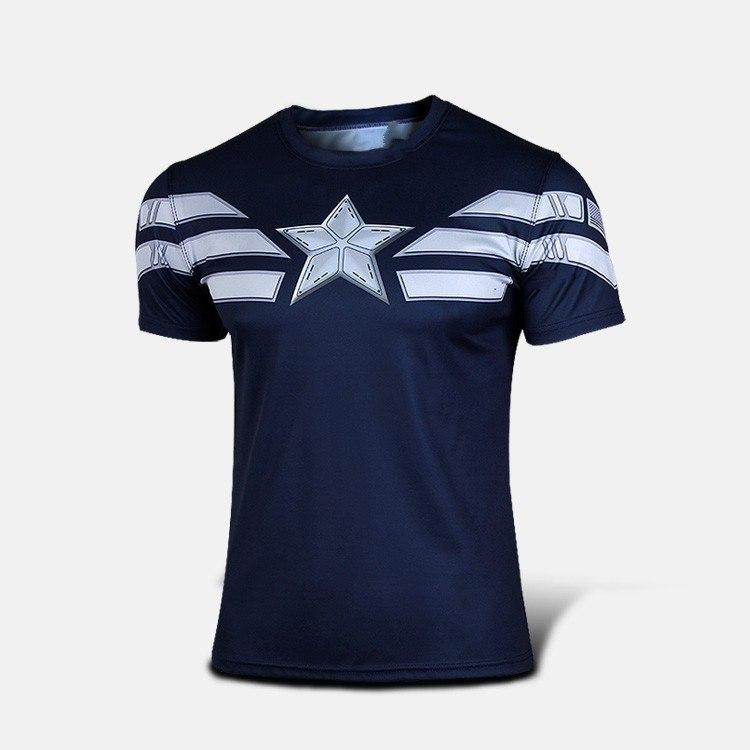 Captain America Fitness Shirt - The Dragon Shop - Geek Culture